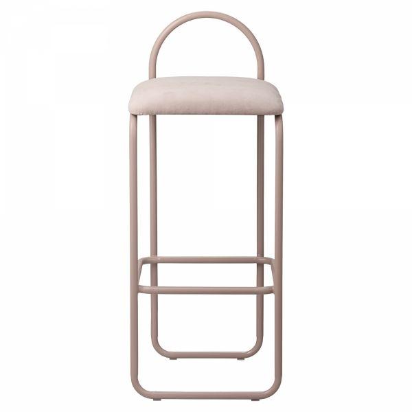 AYTM - ANGUI Hoker - Krzesło Barowe 82,5 cm Rose - Różowy