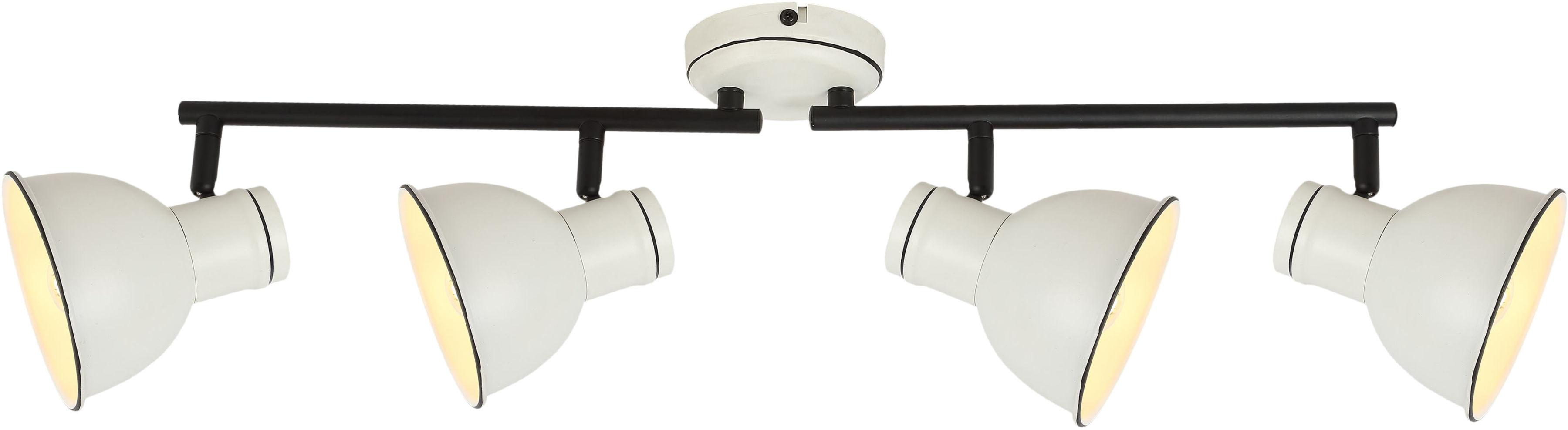 Candellux ZUMBA 94-72153 plafon lampa sufitowa listwa klosz metal biały czarny 4X40W E14 75 cm