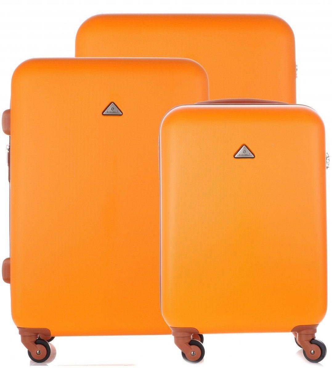 Elegancki i Solidny Zestaw Walizek 3w1 firmy Snowball Pomarańczowy (kolory)