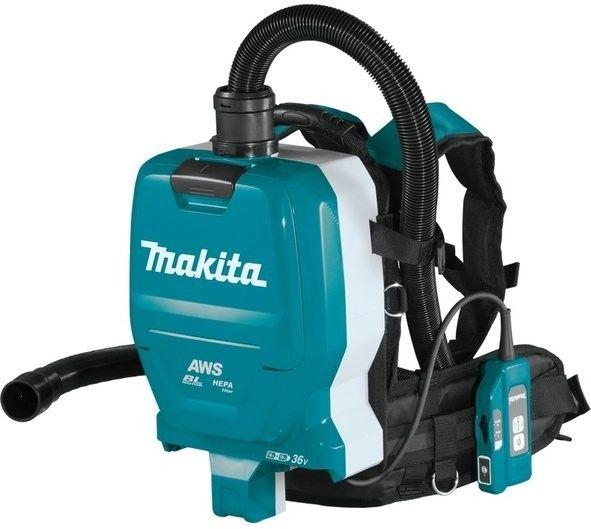 akumulatorowy, 2 biegowy odkurzacz plecakowy 18V Li-Ion AWS Bluetooth LXT Makita [DVC265ZXU] + koszulka polo z logo Makita [R-0314]