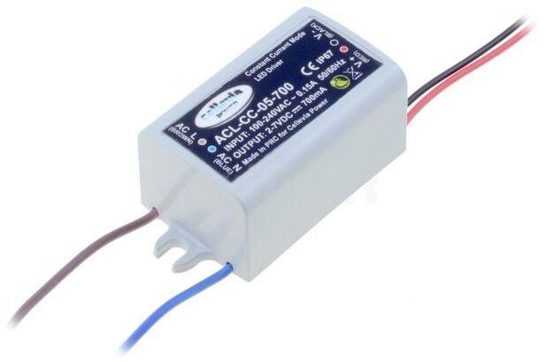 Zasilacz impulsowy do diod LED 4,2W 2 6V 700mA 100 240VAC