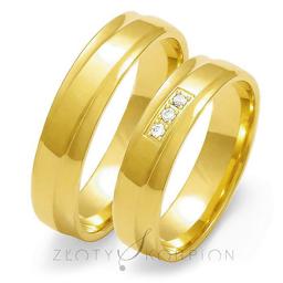 Obrączki ślubne Złoty Skorpion  wzór Au-O134