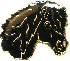 Znaczek ozdobny 57 - głowa karego kucyka mała