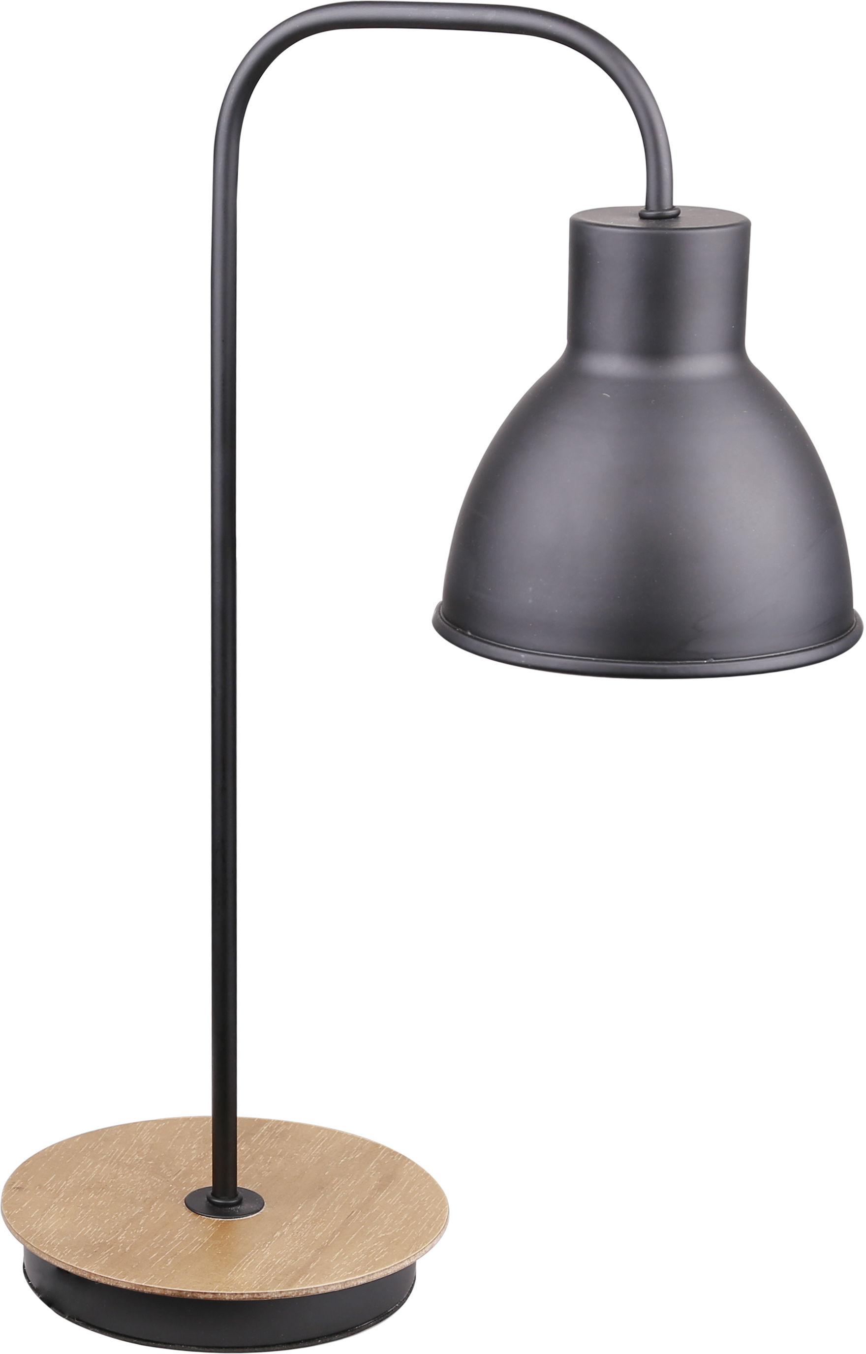 Candellux VARIO 41-73488 lampa stołowa czarny metalowy klosz wbudowany wyłącznik 1X60W E27 16 cm