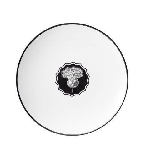 Biały talerz deserowy Herbariae Vista Alegre