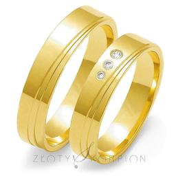Obrączki ślubne Złoty Skorpion  wzór Au-O135