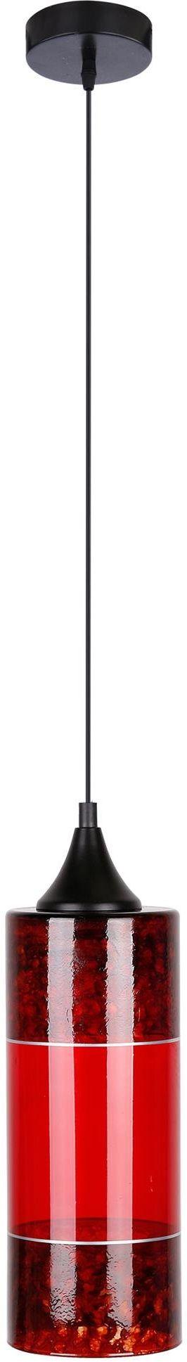 Candellux PLAZMA 31-77653 lampa wisząca szklany klosz czerwony 1X60W E27 12 cm