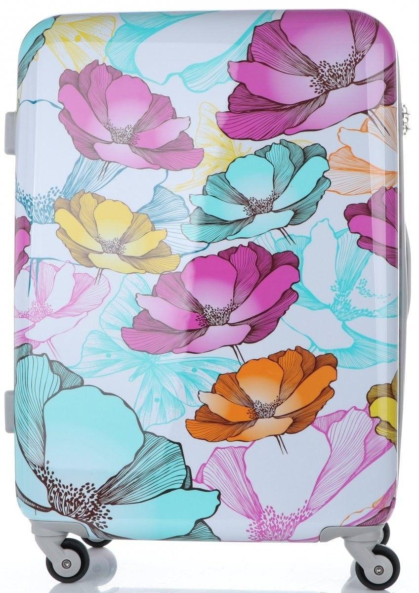Modny Zestaw Walizek w Kwiaty 3w1 firmy Snowball Multikolor - Szary (kolory)