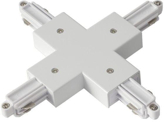 Light Prestige LP-554 WH łącznik X biały do szynoprzewodów 1F metalowy