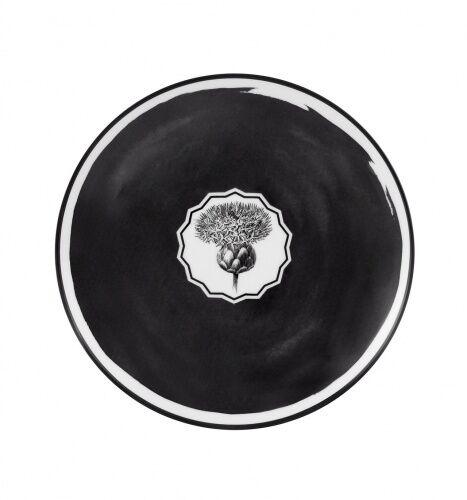 Czarny talerz deserowy Herbariae Vista Alegre