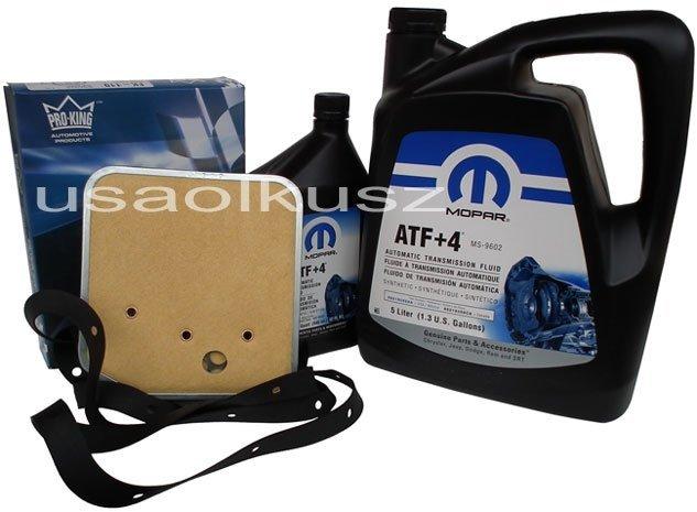 Olej MOPAR ATF+4 oraz filtr oleju skrzyni biegów 30RH / 32RH Jeep Wrangler -2002