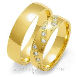 Obrączki ślubne Złoty Skorpion  wzór Au-O136