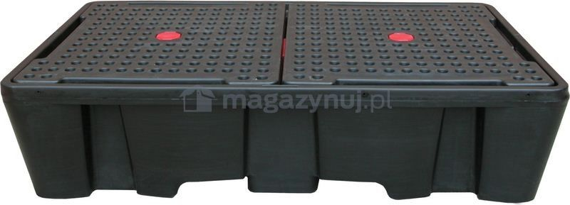 Paleta wychwytowa o pojemności 1130 l, mag. 2*IBC/KTC, wym. 2450 x 1450 x 575 mm