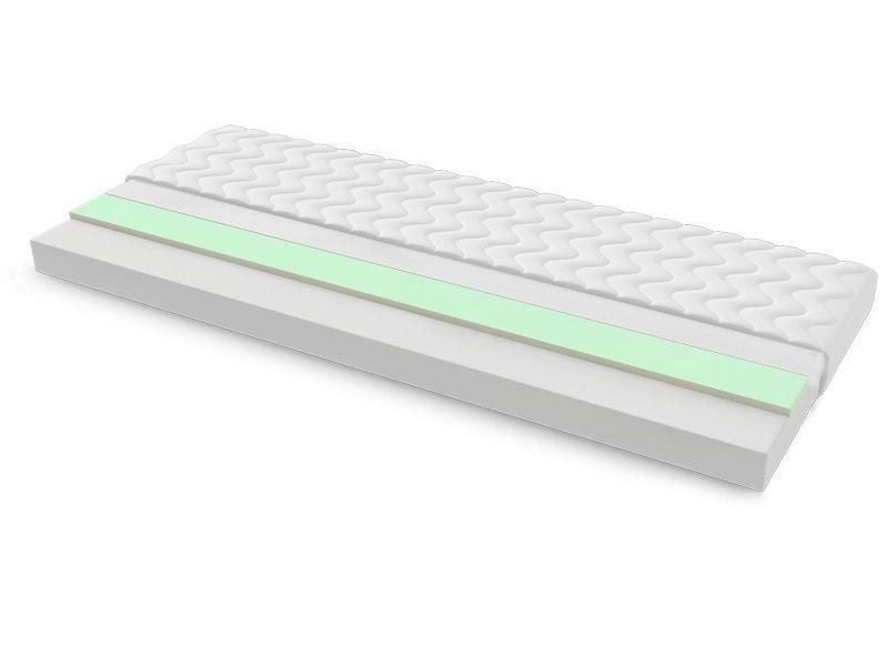 Materac piankowy TUNEZJA MAX PLUS 80x190 cm Miękki / Średnio twardy 2x Visco Memory