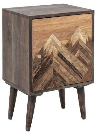 Szafka nocna Mountain z drewna Mango