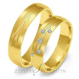Obrączki ślubne Złoty Skorpion  wzór Au-O137