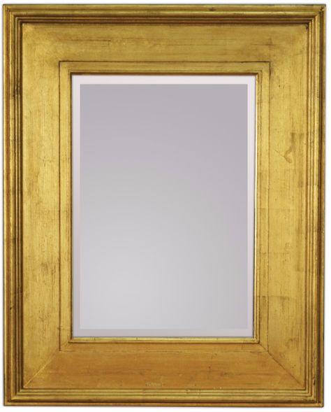 Lustro ścienne w złotej ramie 80x100