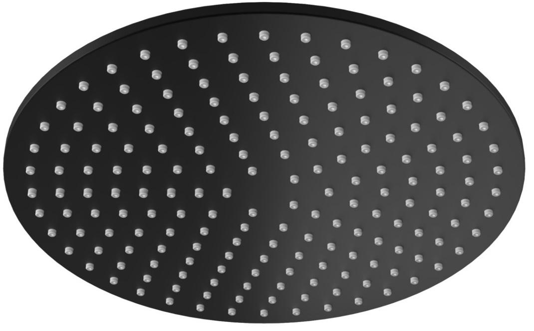 Kohlman deszczownica okrągła 25x25cm czarny mat R25EB