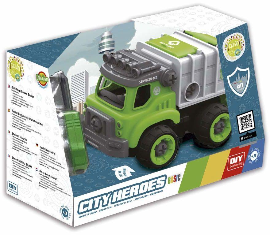 CCPA Toy Group trading s.l.- ciężarówki z dźwiękiem, rozkładane za pomocą śrubokrętu, kolor zielony (CPATOY Group S.L. 7838041S)