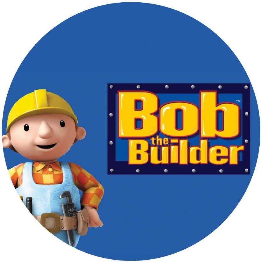 Dekoracyjny opłatek tortowy Bob Budowniczy - 20 cm