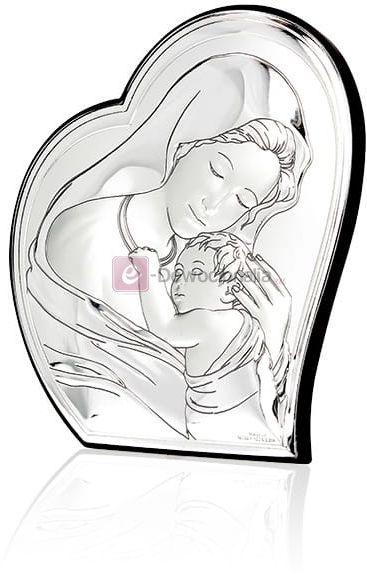 Obrazek srebrny - Matka Boska z Dzieciątkiem [różne rozmiary]