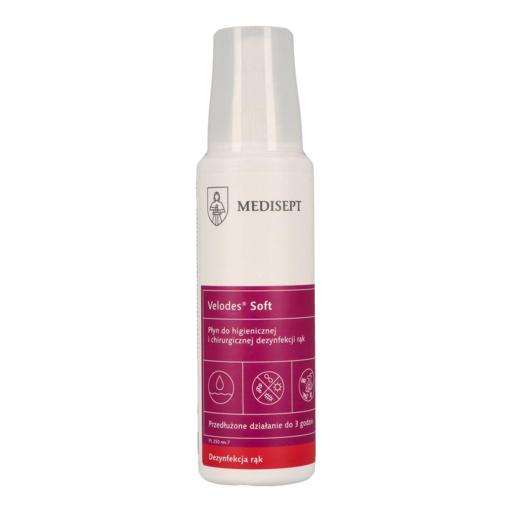 VELODES SOFT 250 ml - płyn do higienicznej i chirurgicznej dezynfekcji rąk