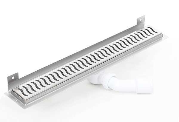 Kesmet Wall Silver Wave odpływ ścienny 1200KWF_p 1200mm (syfon plastikowy)
