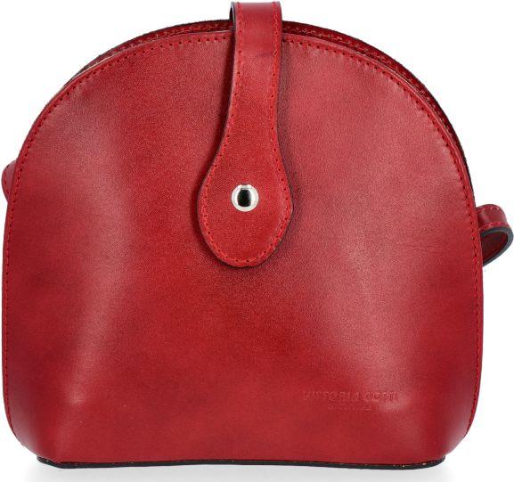 Klasyczne Torebki Skórzane Listonoszki firmy Vittoria Gotti Czerwona (kolory)