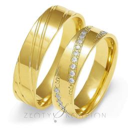 Obrączki ślubne Złoty Skorpion  wzór Au-O138