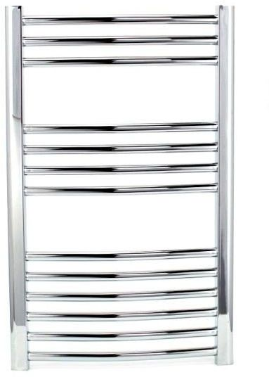 Grzejnik łazienkowy york - wykończenie zaokrąglone, 500x800, chromowany