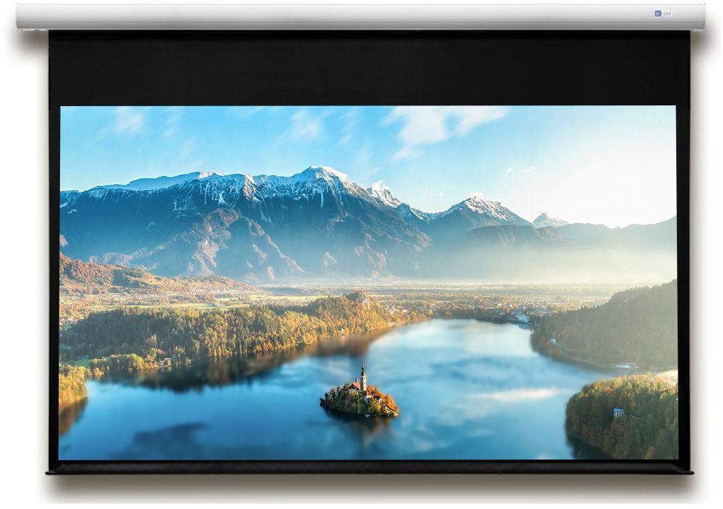 DELUXX  Advanced Elegance 221 x 124 cm Matt White Polaro ekran elektryczny 16:9 (99)