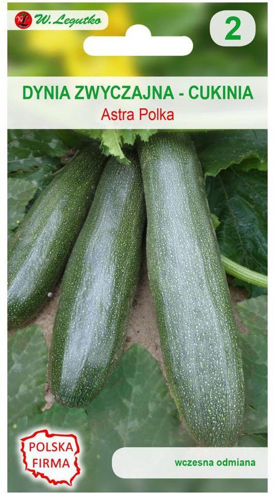 Dynia zwyczajna (Cukinia) ASTRA POLKA nasiona tradycyjne 2 g W. LEGUTKO