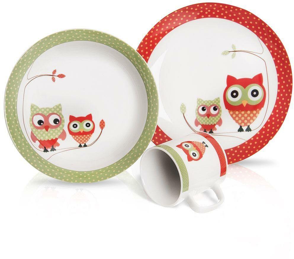 Zestaw - talerz, miska, kubek, dla dzieci, dziecka