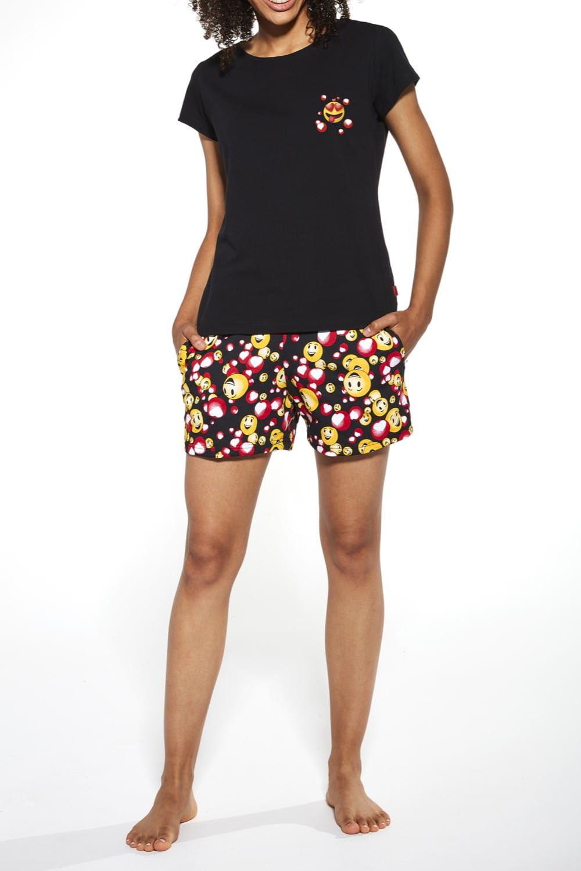 Bawełniana piżama damska Cornette 398/189 Funny czarna