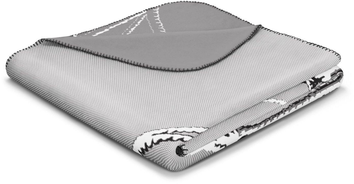 Biederlack Chill Zeit Trend kocyk / narzuta, tkanina z mieszanki bawełny, cel, 150 x 200 cm