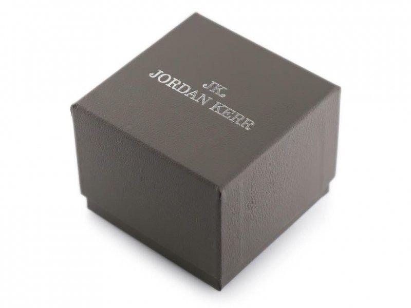 Prezentowe pudełko na zegarek - JORDAN KERR - szare/srebrne