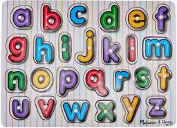 Melissa & Doug See-Inside alfabet drewniany klamerek puzzle (bez frustracji)