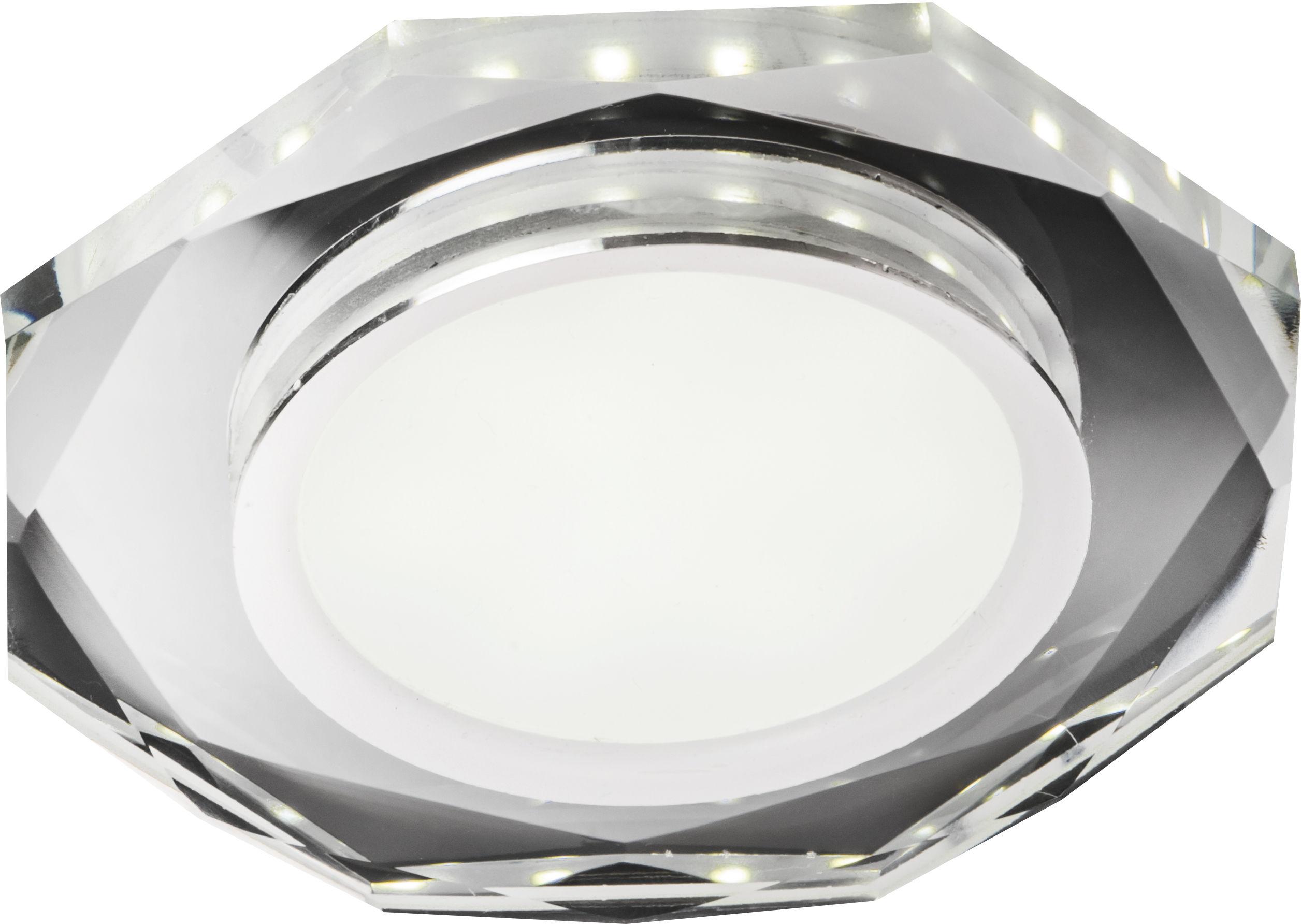 Candellux SSP-24 CH/TR+WH 2263922 oprawa do wbudowania stropowa biała 8W LED 230V ring LED oczko sufitowe ośmiokątna 11,2cm