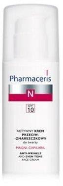 Pharmaceris, N Magni-Capilaril, Aktywny krem przeciwzmarszczkowy do twarzy SPF 10, 50 ml