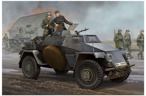 German Sd.Kfz.221 model do sklejania HobbyBoss