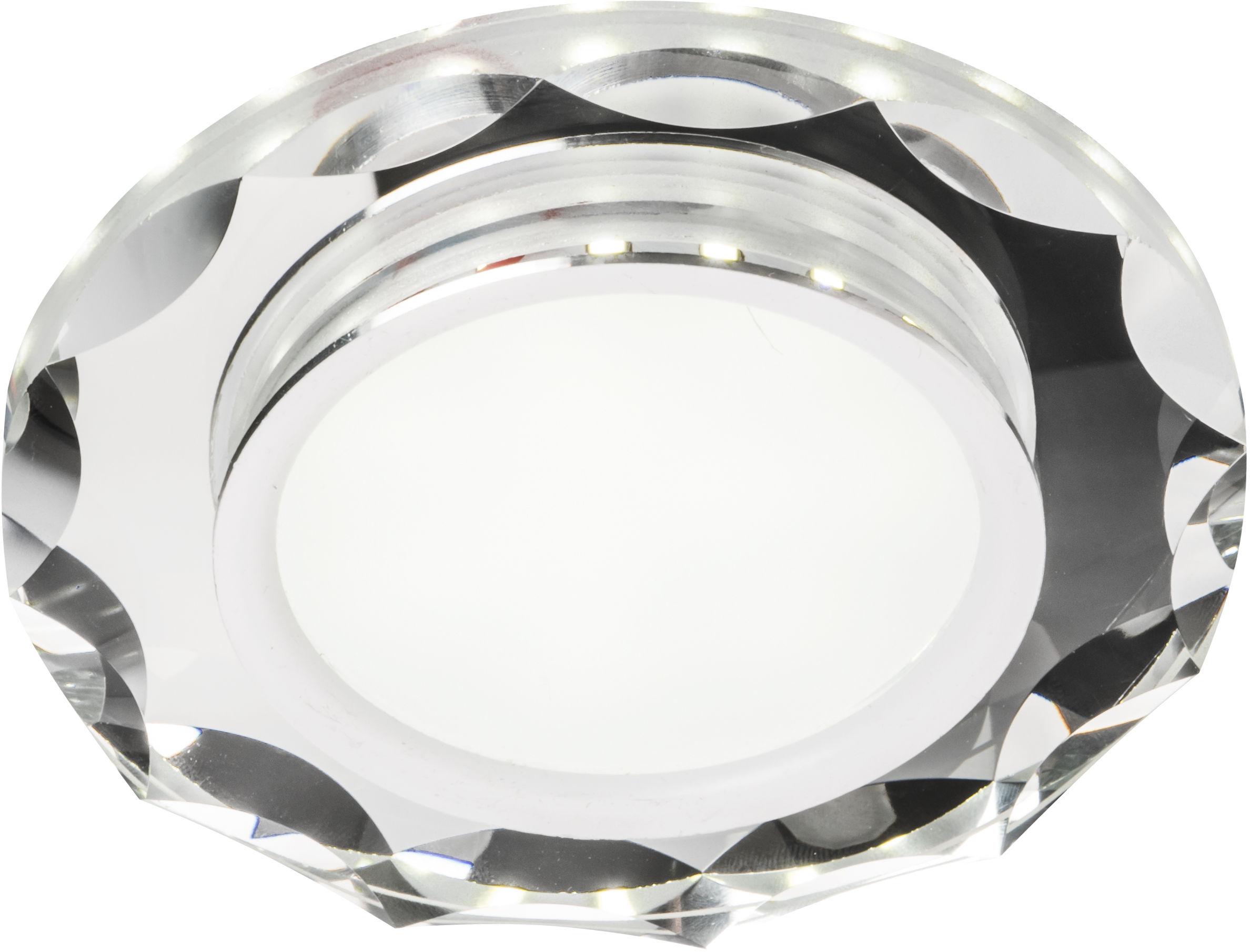 Candellux SSP-25 CH/TR+WH 2263939 oprawa do wbudowania stropowa 8W LED 230V ring LED biały oczko sufitowe okrągła szkło transparentne 11cm