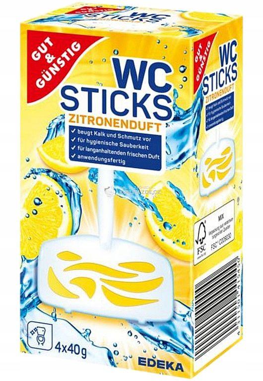 GG Wc Sticks Lemon Zawieszka do WC 4 sztuki DE