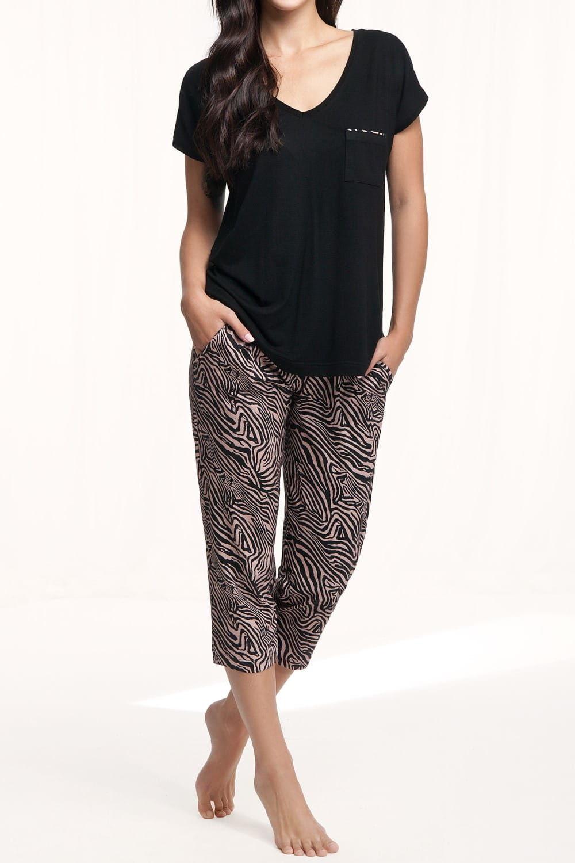 Piżama damska LUNA 579 czarna