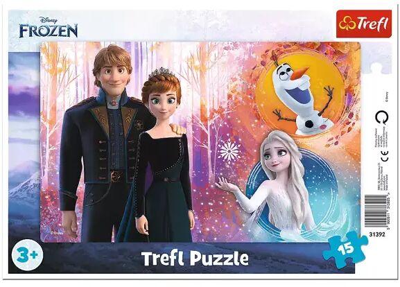 Puzzle 15 Ramkowe Radosne wspomnienia Frozen 2 31392 - Trefl PAP