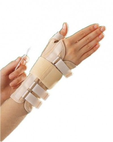 Długa bioceramiczna orteza nadgarstka z taśmą mocującą i stabilizacją kciuka 3182