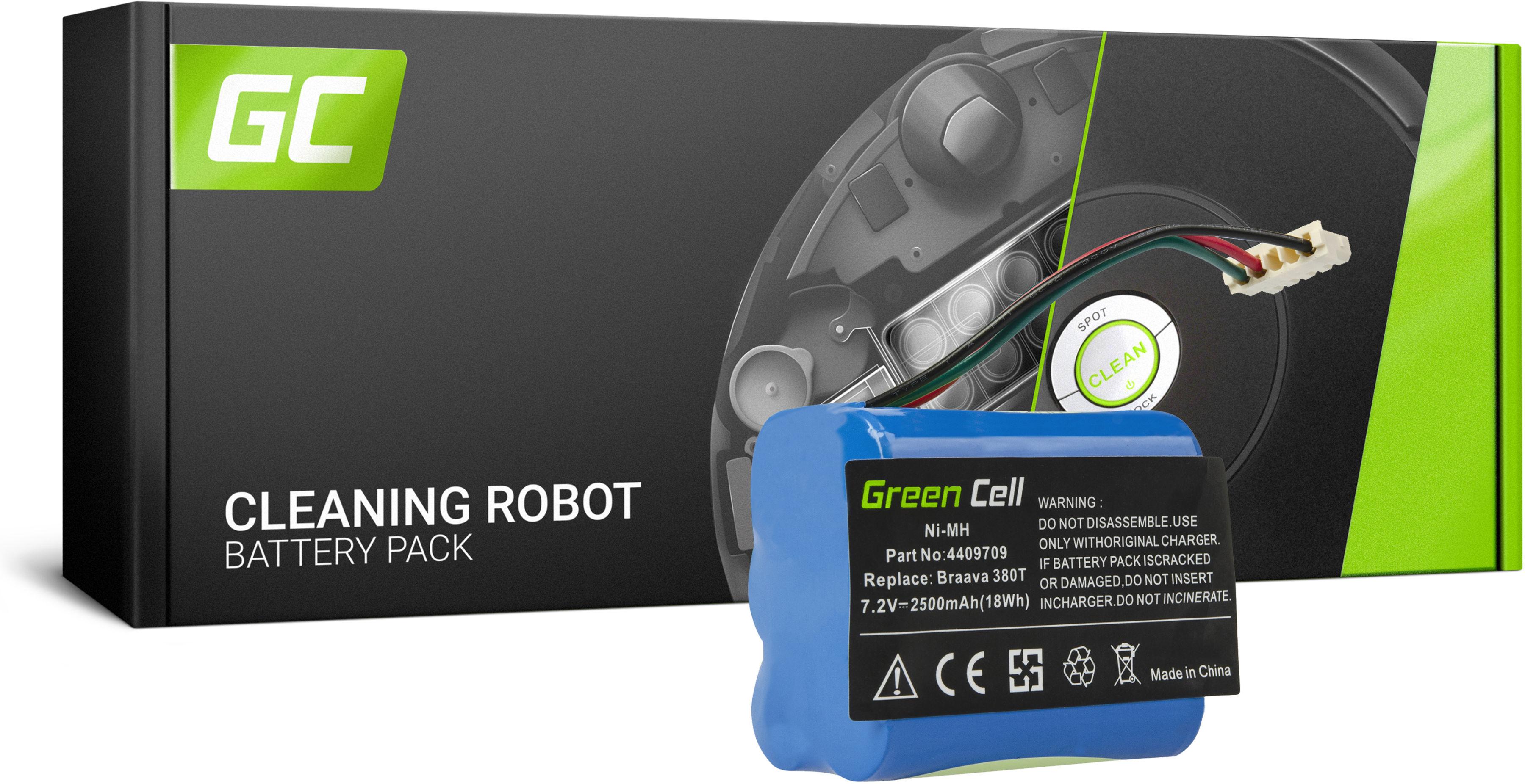 Bateria Akumulator (2.5Ah 7.2V) 4409709 Green Cell do iRobot Braava / Mint 380 380T 5200 5200B 5200C Plus