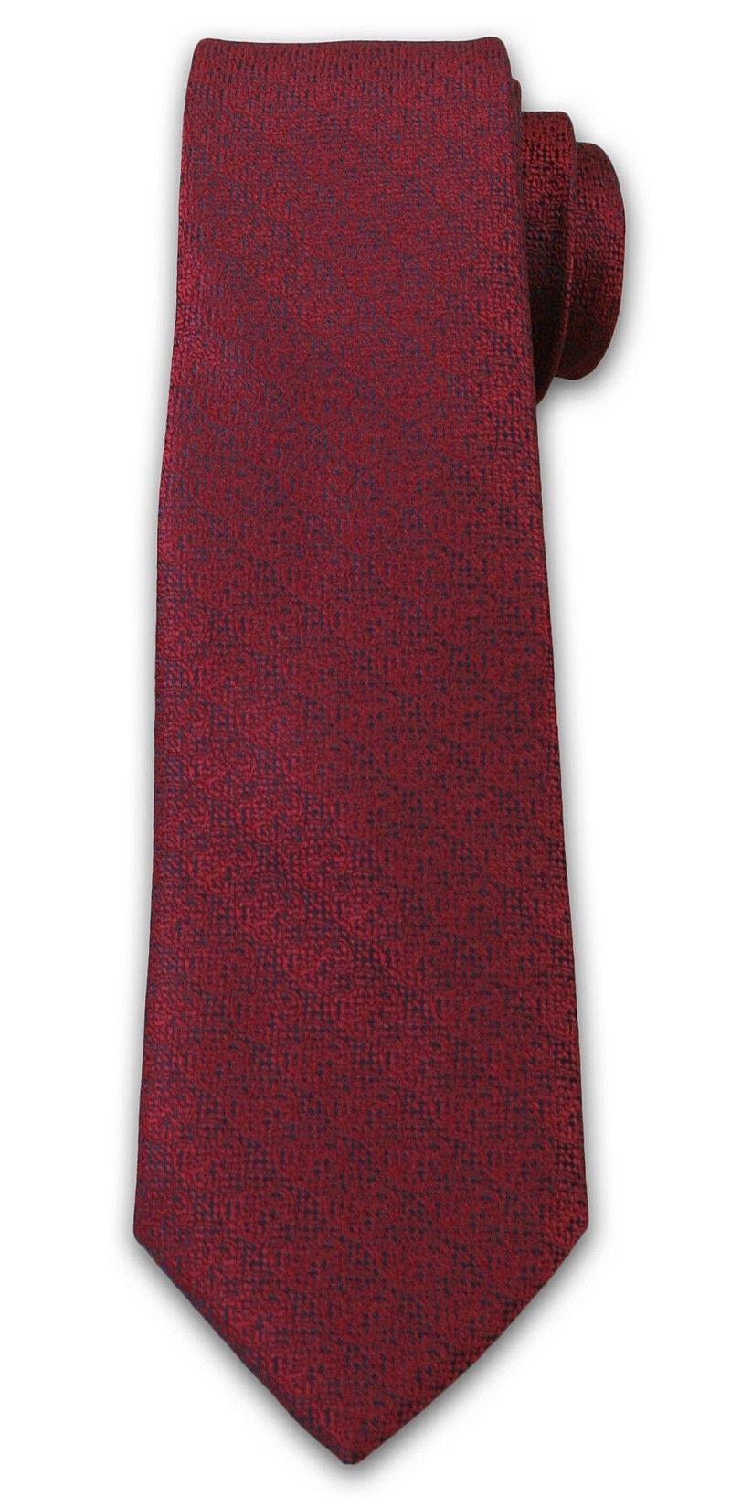 Krawat Męski z Drobnym Wzorkiem - Chattier- 6,7 cm - Czerwień KRCH1025