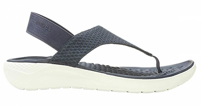 Sandały damskie Crocs LiteRide Mesh Flip granatowe205477462