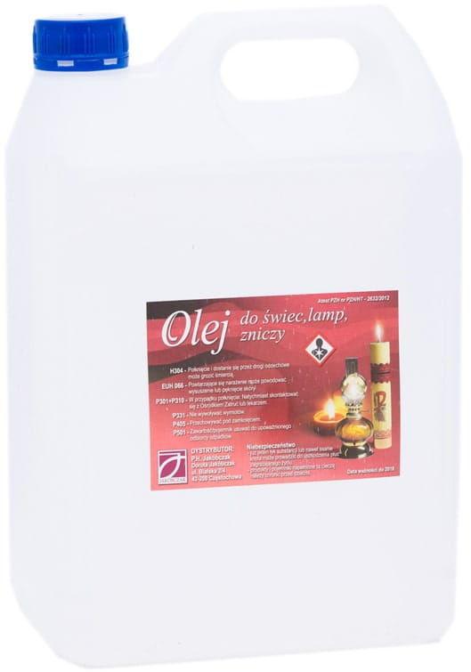 Olej do świec liturgicznych, lamp, zniczy 5 litrów