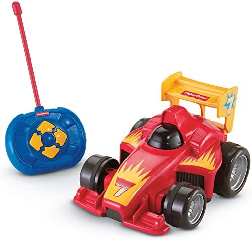 Fisher Price zdalnie sterowany samochód w kolorze czerwonym, zabawki motoryczne z pilotem, dla dzieci od 3 lat